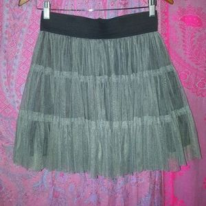 Gray Grey Tulle Chiffon Tutu Petticoat Mini Skirt